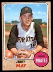 1968 Topps #598  Jerry May  Front Thumbnail