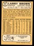 1968 Topps #197  Larry Brown  Back Thumbnail