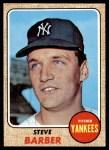 1968 Topps #316  Steve Barber  Front Thumbnail