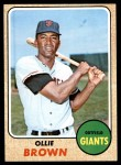 1968 Topps #223  Ollie Brown  Front Thumbnail