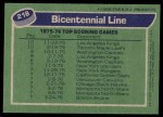 1976 Topps #218   Bicentennial Line Back Thumbnail