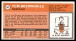 1970 Topps #68  Tom Boerwinkle   Back Thumbnail