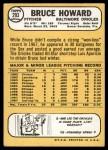 1968 Topps #293  Bruce Howard  Back Thumbnail