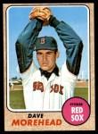 1968 Topps #212  Dave Morehead  Front Thumbnail