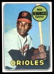 1969 Topps #277  Elrod 'Rod' Hendricks  Front Thumbnail