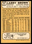 1968 Topps #197  Larry Brown  Back Thumbnail