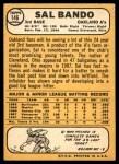 1968 Topps #146  Sal Bando  Back Thumbnail