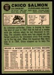 1967 Topps #43  Chico Salmon  Back Thumbnail