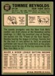 1967 Topps #487 COR Tommie Reynolds  Back Thumbnail