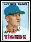 1967 Topps #321  Mayo Smith  Front Thumbnail