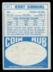 1968 Topps #177  Jerry Simmons  Back Thumbnail
