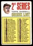 1967 Topps #103 xDOT  -  Mickey Mantle Checklist 2 Front Thumbnail
