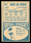 1968 Topps #190  Bobby Joe Conrad  Back Thumbnail