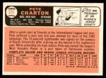 1966 Topps #329  Pete Charton  Back Thumbnail