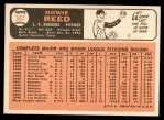 1966 Topps #387  Howie Reed  Back Thumbnail