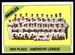 1966 Topps #348   Orioles Team Front Thumbnail