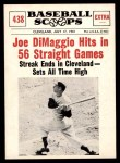 1961 Nu-Card Scoops #438   -   Joe DiMaggio Joe Dimaggio Hits in 56 Straight Games Front Thumbnail