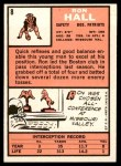 1966 Topps #8  Ron Hall  Back Thumbnail