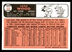 1966 Topps #509  Jake Wood  Back Thumbnail