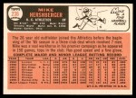 1966 Topps #236  Mike Hershberger  Back Thumbnail