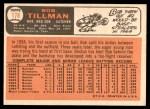 1966 Topps #178  Bob Tillman  Back Thumbnail