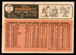 1966 Topps #429  Bill Monbouquette  Back Thumbnail