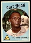 1959 Topps #353  Curt Flood  Front Thumbnail