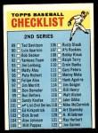 1966 Topps #101 HEN  Checklist 2 Front Thumbnail