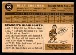 1960 Topps #69  Billy Goodman  Back Thumbnail