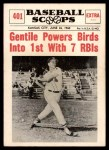 1961 Nu-Card Scoops #401   -  Jim Gentile Gentile Powers Birds into 1st Front Thumbnail