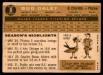 1960 Topps #8  Bud Daley  Back Thumbnail
