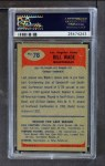1955 Bowman #78  Bill Wade  Back Thumbnail