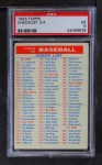 1956 Topps   Checklist Series 2/4 Front Thumbnail
