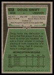 1975 Topps #167  Doug Swift  Back Thumbnail