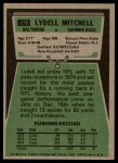 1975 Topps #170  Lydell Mitchell  Back Thumbnail