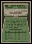1975 Topps #200  Larry Brown  Back Thumbnail