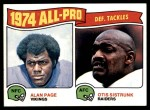 1975 Topps #214   -  Alan Page / Otis Sistrunk All-Pro Defensive Tackles Front Thumbnail