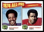 1975 Topps #220   -  Nate Wright / Emmitt Thomas All-Pro Cornerbacks Front Thumbnail