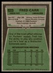 1975 Topps #233  Fred Carr  Back Thumbnail