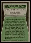 1975 Topps #246  John Skorupan  Back Thumbnail
