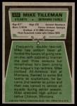 1975 Topps #272  Mike Tilleman  Back Thumbnail