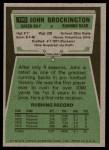 1975 Topps #150  John Brockington  Back Thumbnail