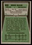 1975 Topps #151  Mike Siani  Back Thumbnail