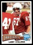 1975 Topps #154  Larry Stallings  Front Thumbnail