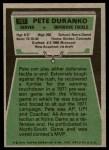 1975 Topps #187  Pete Duranko  Back Thumbnail