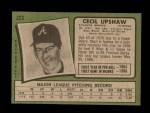 1971 Topps #223  Cecil Upshaw  Back Thumbnail