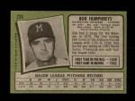 1971 Topps #236  Bob Humphreys  Back Thumbnail