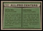 1975 Topps #204   -  Jeff Van Note / Jack Rudnay All-Pro Centers Back Thumbnail