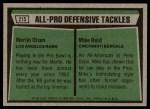 1975 Topps #215   -  Merlin Olsen / Mike Reid All-Pro Defensive Tackles Back Thumbnail