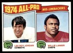 1975 Topps #218   -  Willie Lanier / Lee Roy Jordan All-Pro Middle Linebackers Front Thumbnail